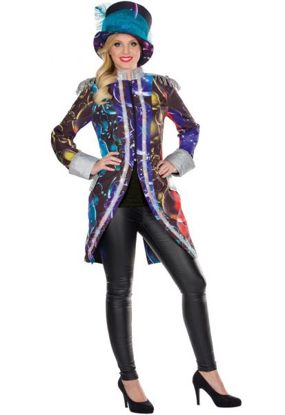Ladies Costume LED Tailcoat Bubble Soap Bubbles colorful