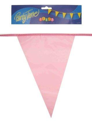 Flag line pink 50m party decoration