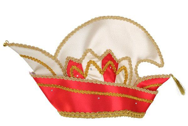 Prince Carnival stitch hat red with stones