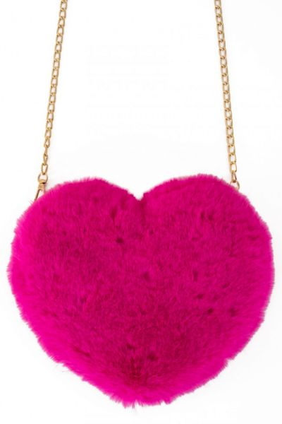 Bag plush heart pink