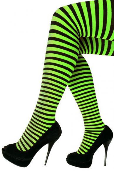 Panty stripe green black