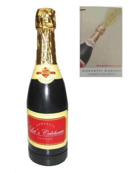 Party confetti champagne bottle