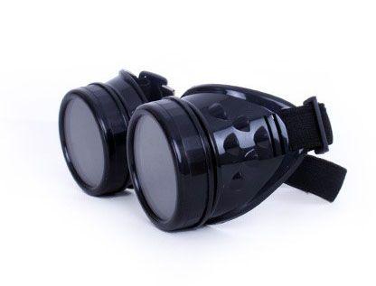 Steampunk Vintage goggles glasses black