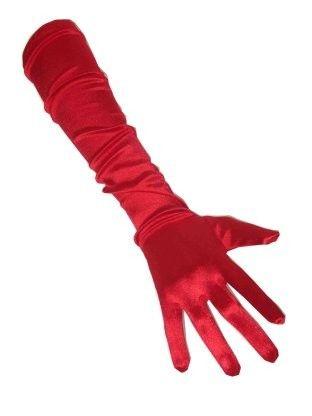 Gloves satin red