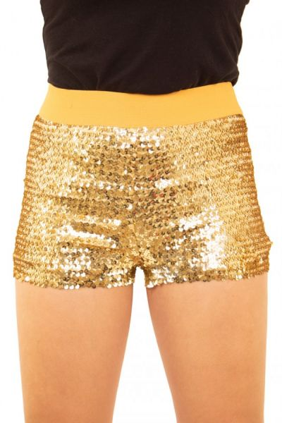 Hotpants with sequins gold
