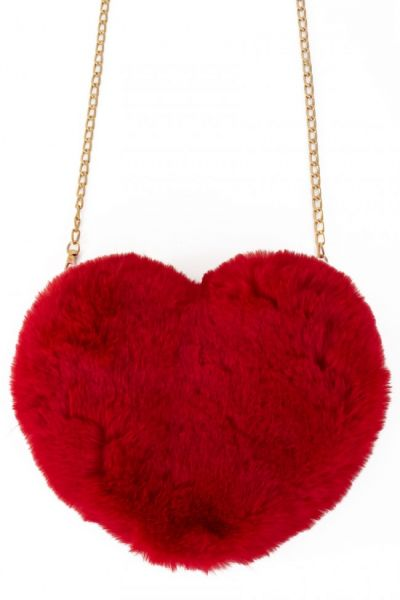 Bag plush heart red