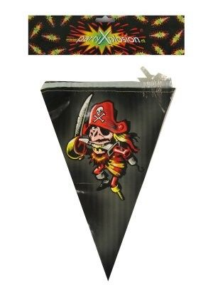 Flag line pirate 72m party decoration