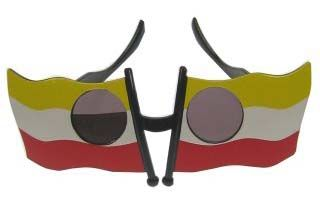 Funny glasses yellow white red