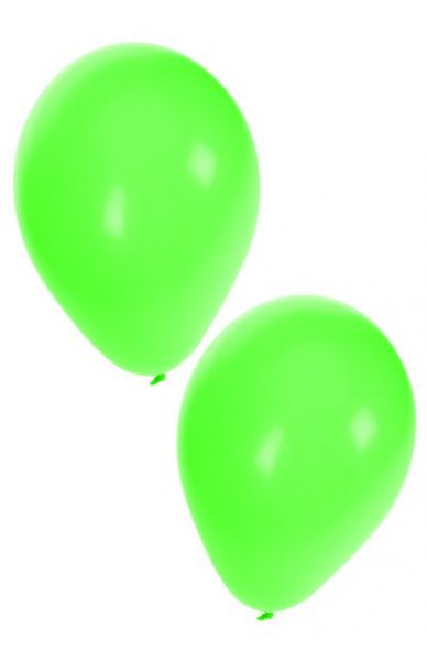 Green helium balloons