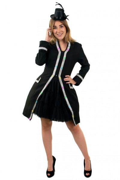 Ladies jacket with lighting with silver piping