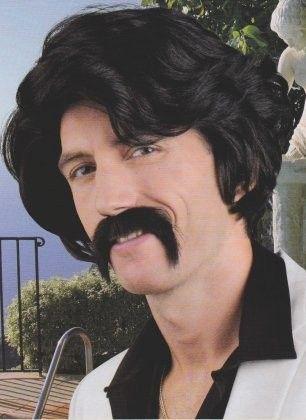 Men wig with black mustache
