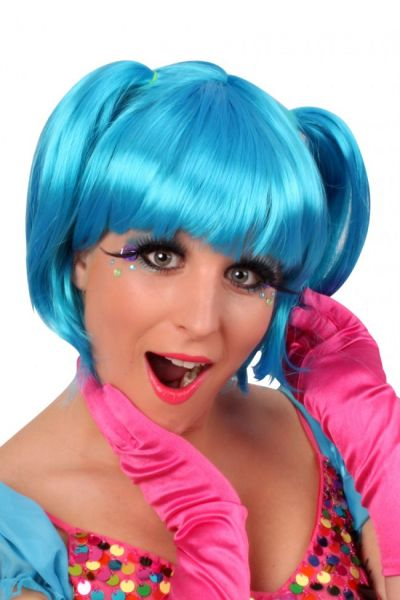 Wig Britty bright blue