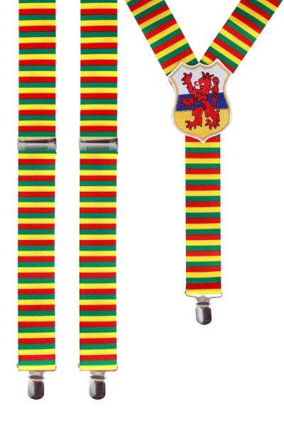 Suspenders red yellow green with Limburg
