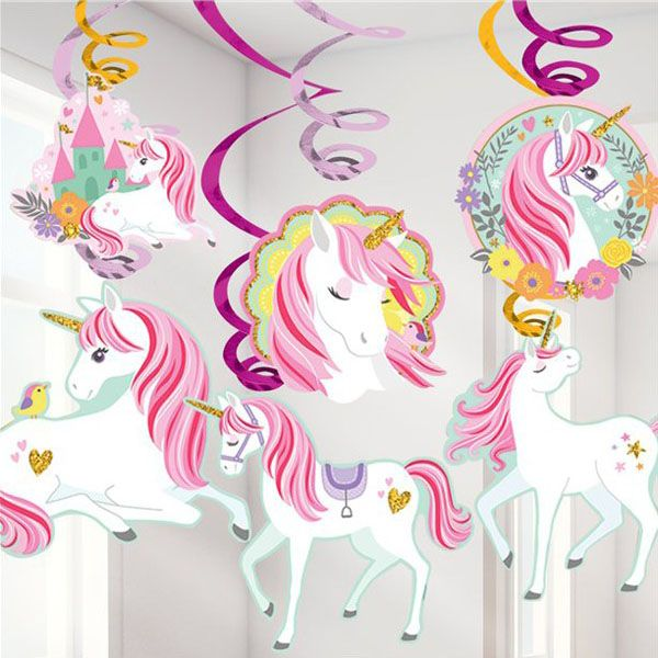 Swirl Decoration Unicorn