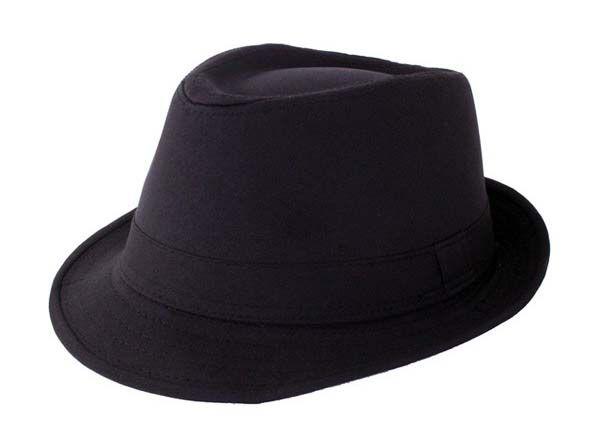 Trendy gangster hat black