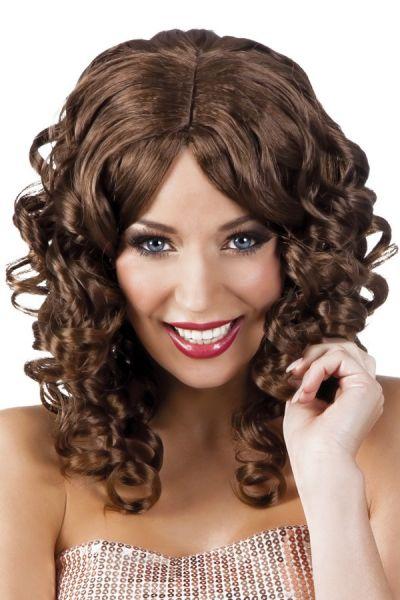 Cocktail wig brown