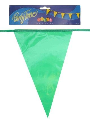 Flag line green 50m party decoration