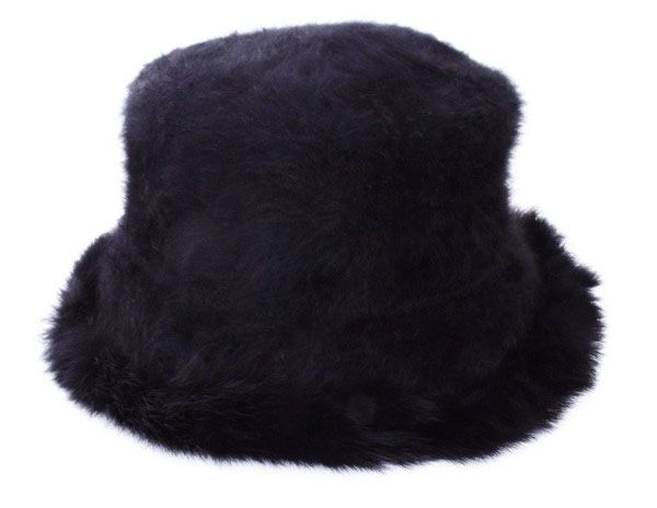 Ladies hat pot model black luxury