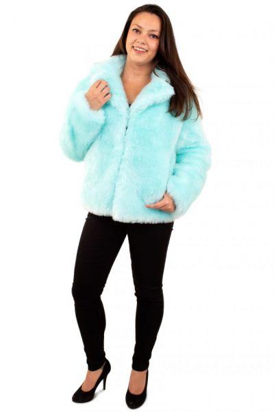 Ladies Fur Coat light blue