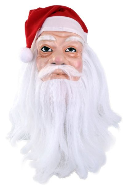 Mask Santa with hat and beard