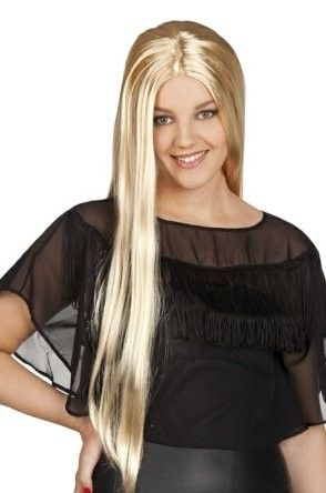 Ladies wig long blond hair