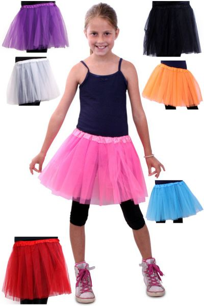 Tulle skirt girl in various colors
