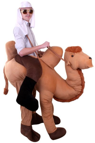 Riding on camel animal costume