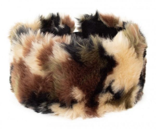 Military headband plush camouflage