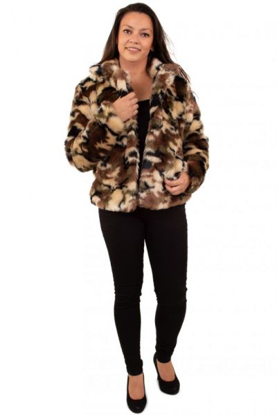 Ladies Fur Coat camouflage