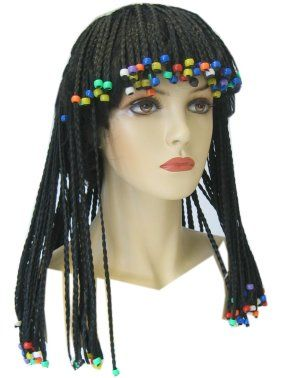 Rasta wig with braids and beads
