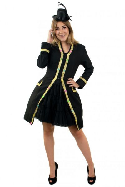 Ladies jacket with lighting with gold piping