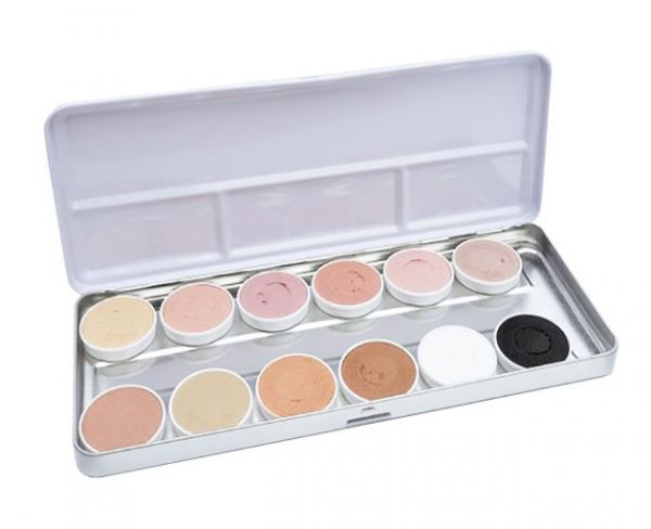 Superstar face paint palette 12 colors Aqua skintone