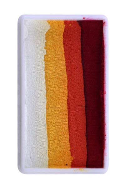 PartyXplosion One Stroke split cake red orange yellow white