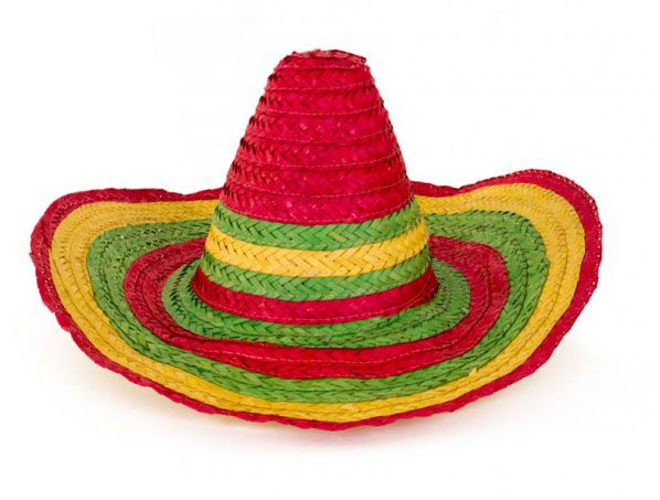 Mexican colorful straw hat