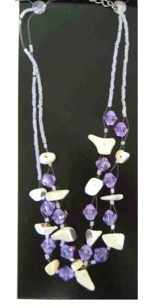 Indian chain with purple and white stones