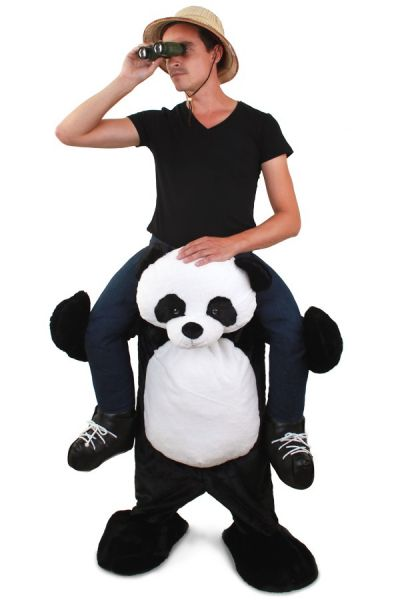 Funny Piggyback costume worn by Panda