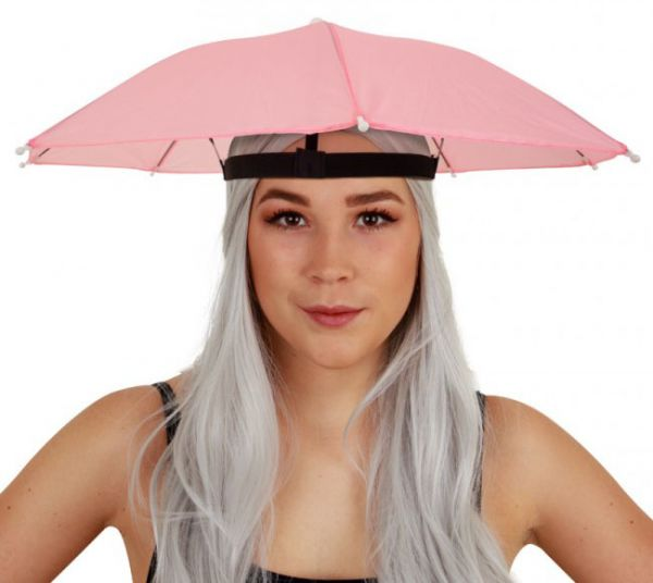 Head umbrella pink