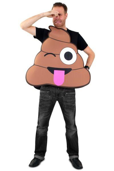Emoticon poop turd costume Emoji