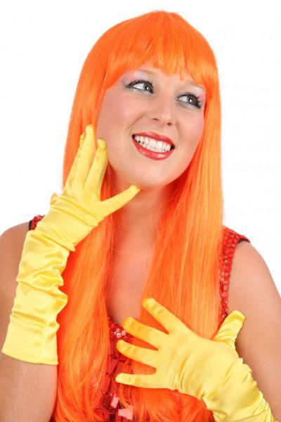 Ladies wig of trendy long orange hair