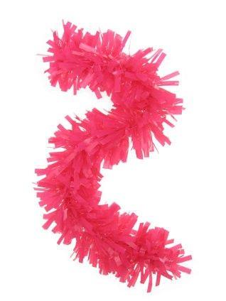 Plastic garland pink 10 meters fireproof