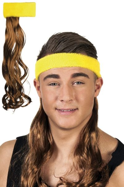 Headband yellow with brown hair