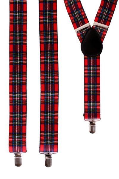 Suspender Scottish tartan