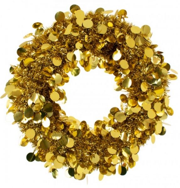 Door wreath 45 cm Gold