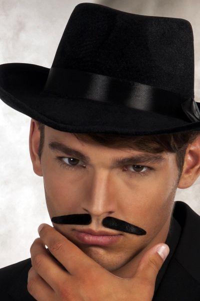 Gangster mustache black
