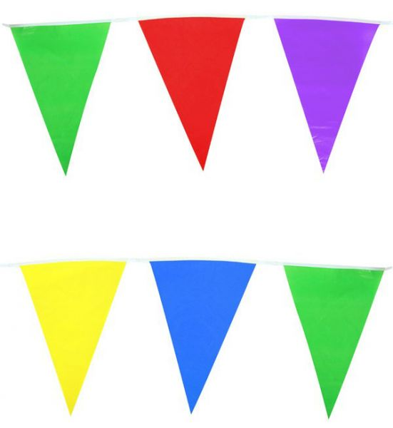 Colored flag line mix of colors 60m