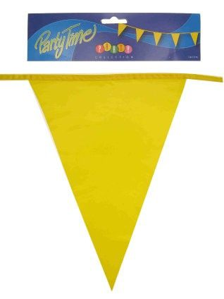 Flag line yellow 50m party decoration