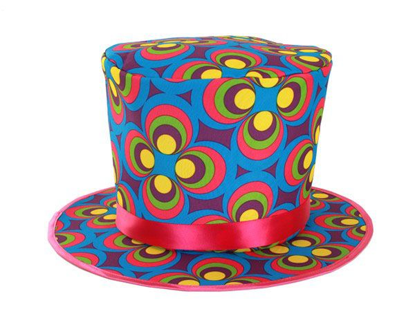Colorful Flower Power hat