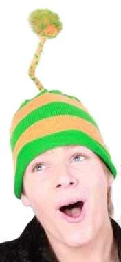 Knitted hat with floss