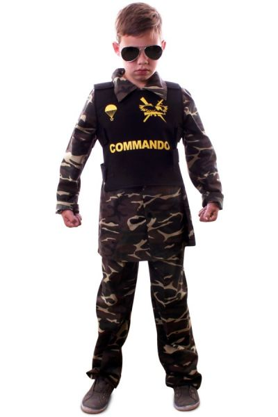 Commando camouflage outfit child