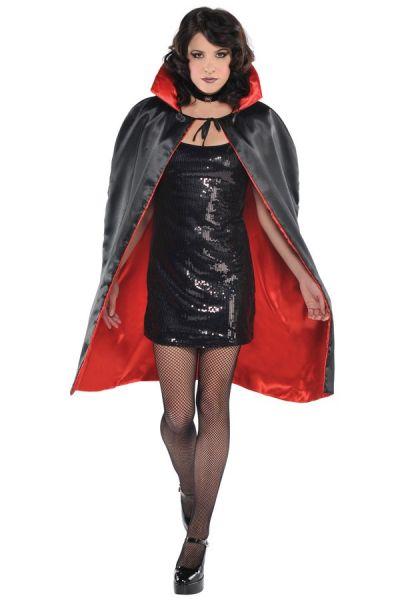 Halloween horror Cape red black reversible